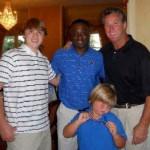 Hunter, University of Memphis Head Football Coach Larry Porter, Andy Bramlett, and Jordan