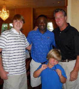 Hunter, University of Memphis Head Football Coach Larry Porter, Andy Bramlett, and Jordan