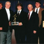 Liberty Bowl Bull Bramlett FCA Award - Dexter Alexander, Tom McDow, Bull, Dane Wilson, Larry Coley FCA Director, Austin Marshall, and Fred Flenoral, Jr.