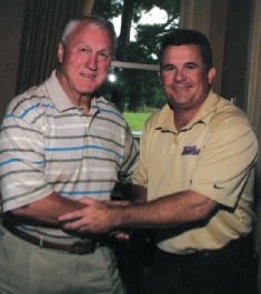 Bull and Todd Graham, Head Football Coach of University of Tulsa, was speaker at Pop Andrews Golf Classic.