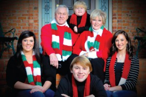 Bull and Nancy Christmas photo with the grandchildren – An annual tradition