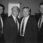 Andy Bramlett (son), Jack Kemp (Buffalo Bills quarterback and New York congressman), and Don Bramlett (son).