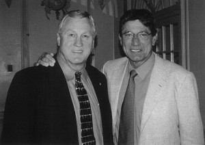 """""""Bull"""" and Joe Namath. Best quarterback to ever play, Joe was Rookie of the Year in 1965 and I was Runner-up."""