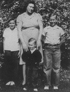 Charles, Mom, Odell, (left to right) and me, in front.