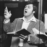 Leading singing at Calvary Rescue Mission (1980)