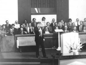 Preaching at Hickory Hills Baptist Church (1979)
