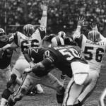 Blocking a Bills field goal (1966)